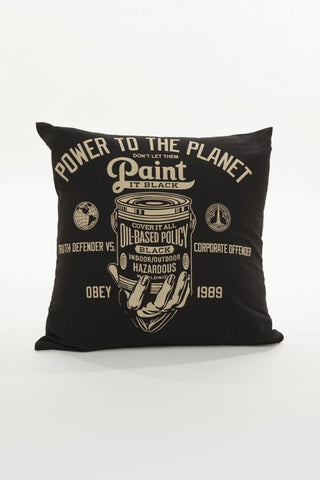 OBEY - Paint It Pillow, Black - The Giant Peach