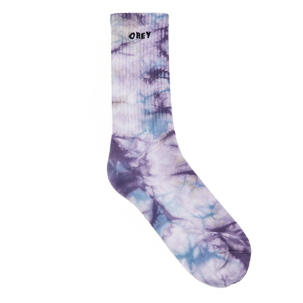 OBEY - Mountain Men's Socks, Purple Nitro Multi