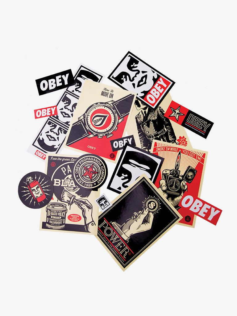 OBEY - Sticker Pack 3, Assorted - The Giant Peach