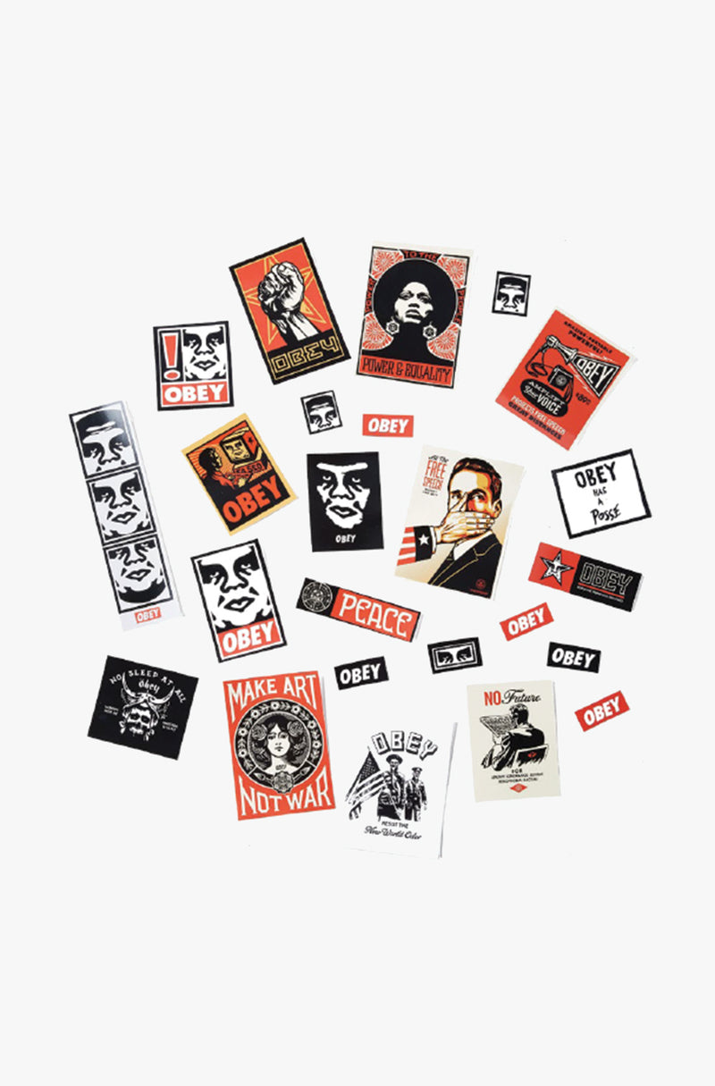 OBEY - Sticker Pack 4, Assorted