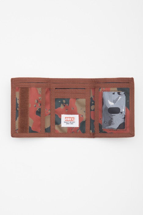 OBEY - Quality Dissent Trifold Wallet, Desert Blotch Camo - The Giant Peach