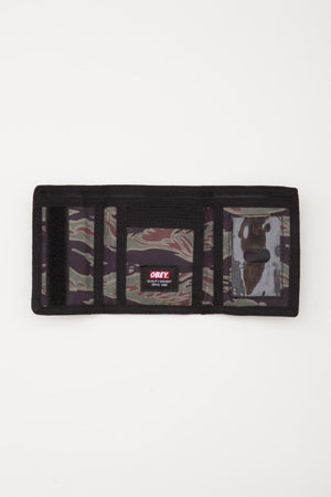 OBEY - Quality Dissent Trifold Wallet, Tiger Camo - The Giant Peach