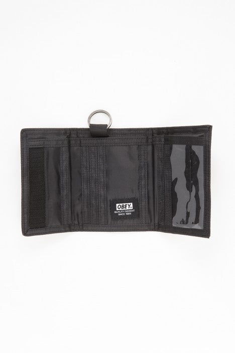 OBEY - Revolt Tri-Fold Wallet, Black - The Giant Peach - 2