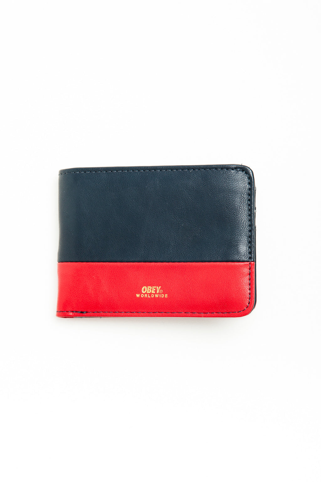 OBEY - Gentry Deuce Bi-Fold Wallet, Navy/Red - The Giant Peach