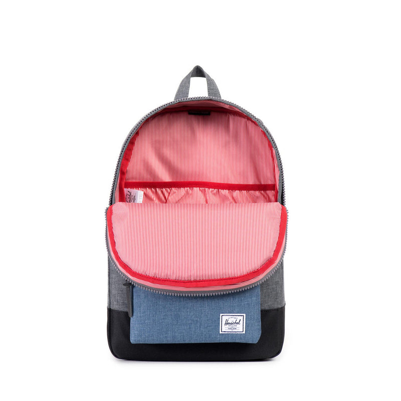 Herschel Supply Co. - Settlement Backpack, Charcoal Navy Crosshatch - The Giant Peach