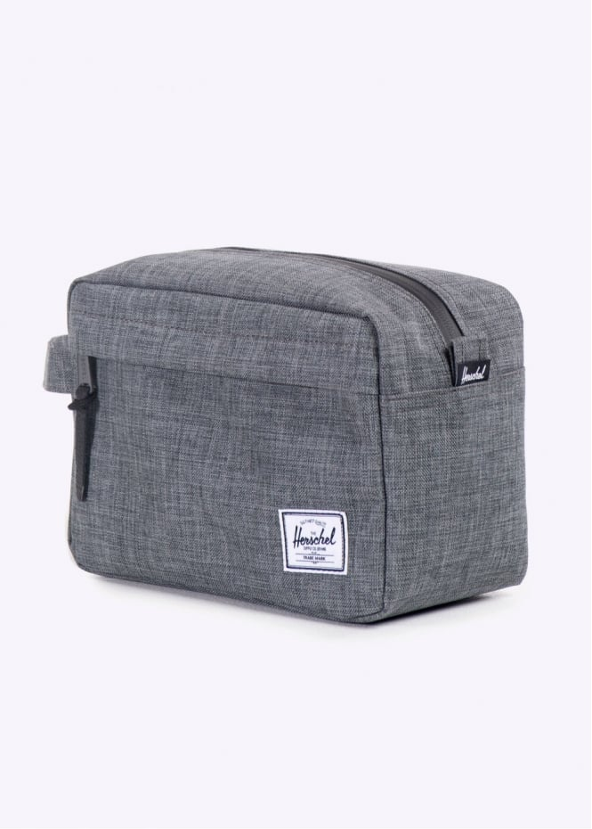 Herschel Supply Co -  Chapter Travel Kit, Charcoal Crosshatch