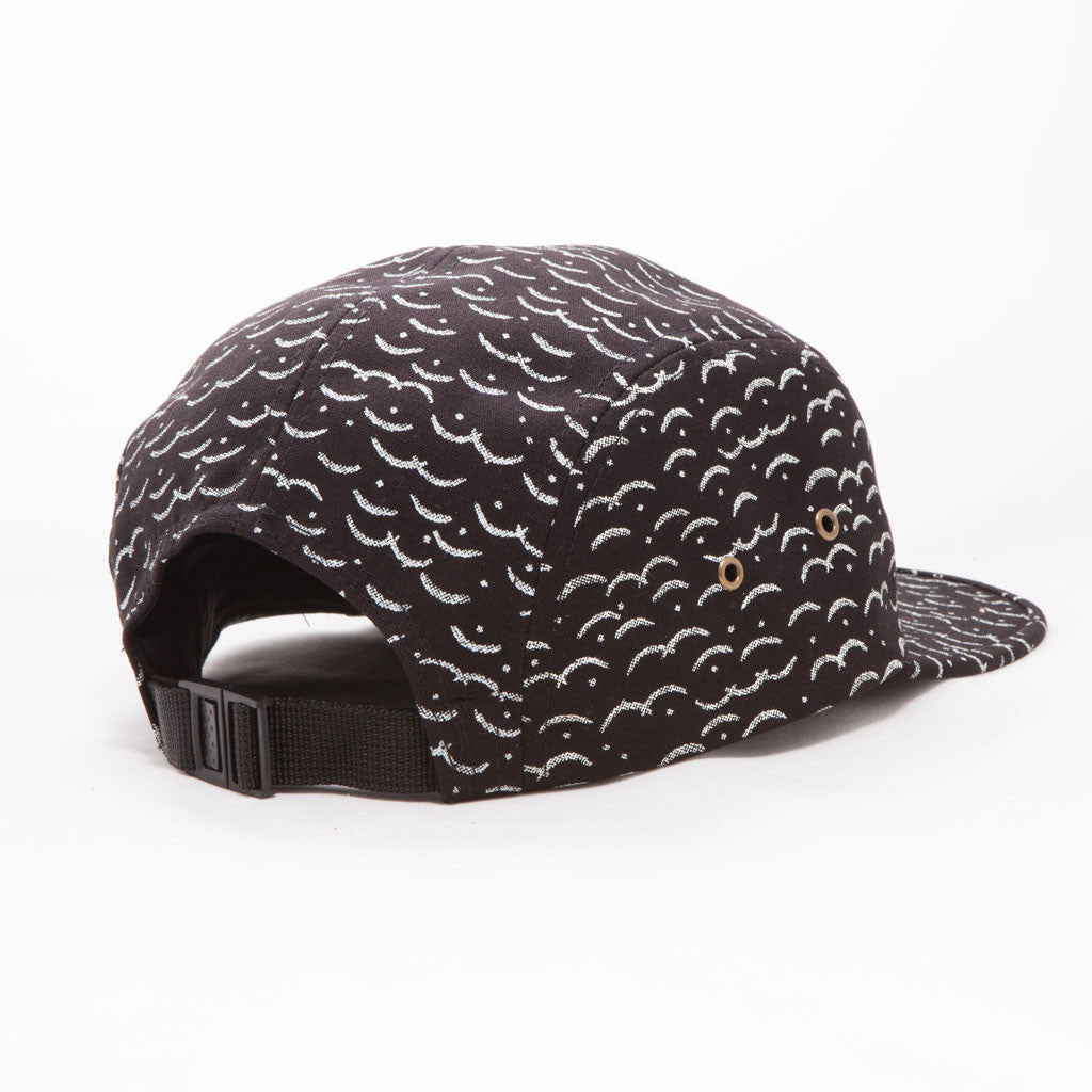 OBEY - Cliffside Men's 5 Panel Hat, Black Multi - The Giant Peach