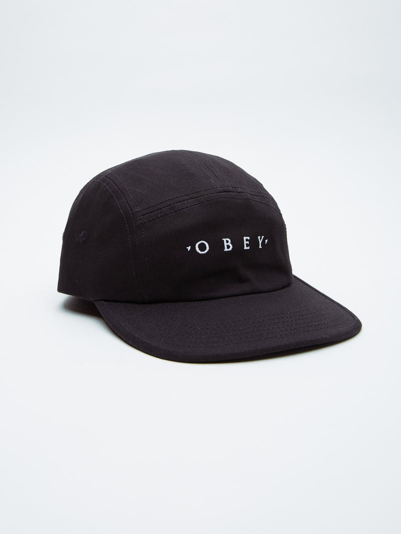 OBEY - Union 5 Panel Hat, Black