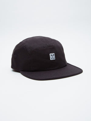 OBEY - 89 Icon 5 Panel Hat, Black