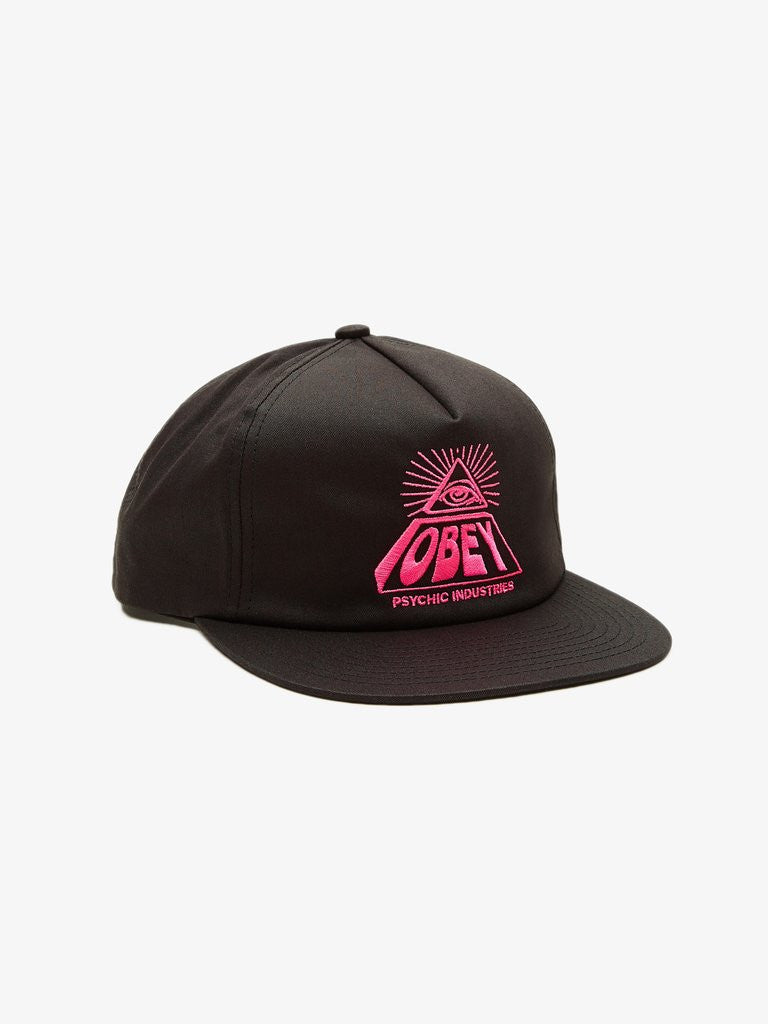 Obey Psychic Industries Snapback Black The Giant Peach