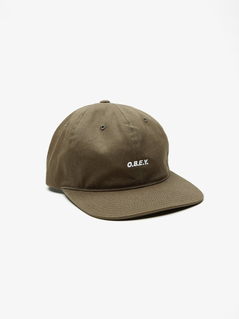 OBEY - Contorted Men's 6 Panel, Army - The Giant Peach - 1