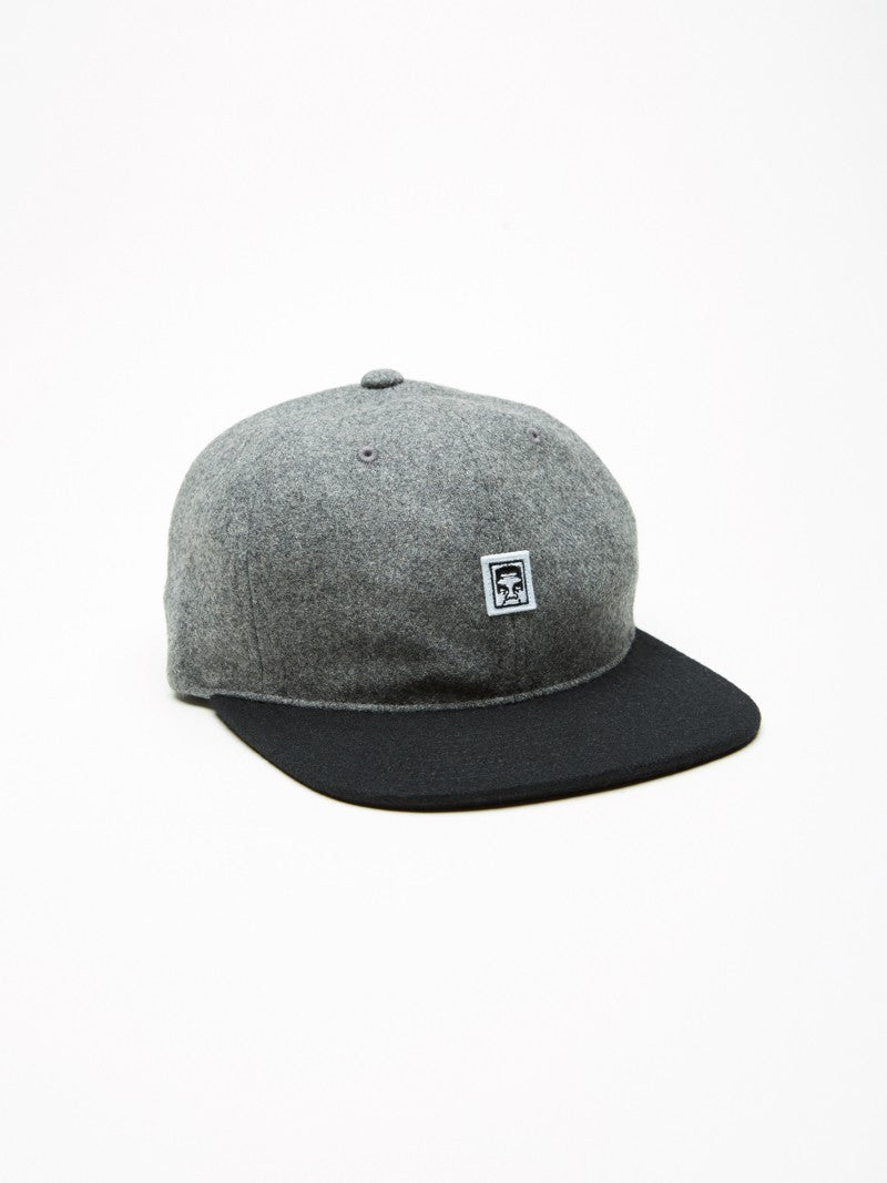OBEY - Nineteen Eighty Nine Men's 6 Panel, Heather Grey/Black - The Giant Peach - 1