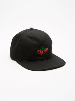 OBEY - Cherries Men's 6 Panel, Black - The Giant Peach