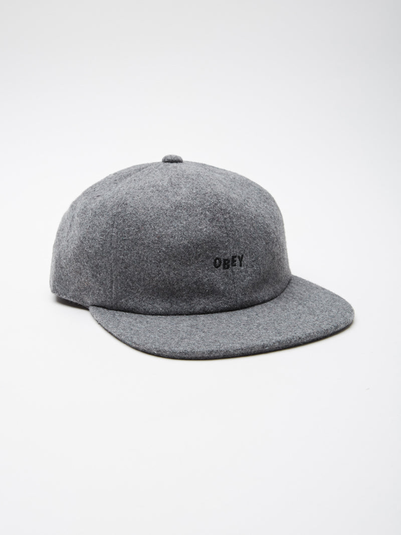 OBEY - Kilson Men's 6 Panel, Heather Grey - The Giant Peach