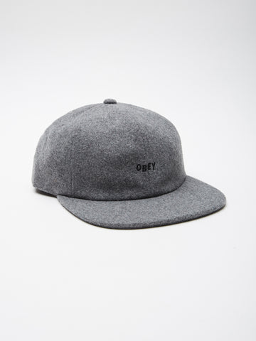 OBEY - Kilson Men's 6 Panel, Heather Grey