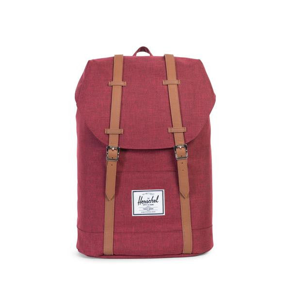 Herschel Supply Co. - Retreat Backpack, Wine Crosshatch - The Giant Peach