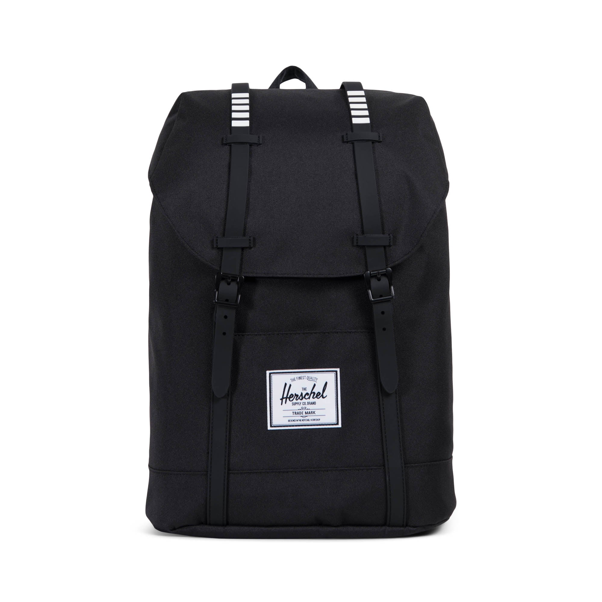 b71fc9d49d7 Herschel Supply Co.Retreat Backpack in Black with Black Stripe ...