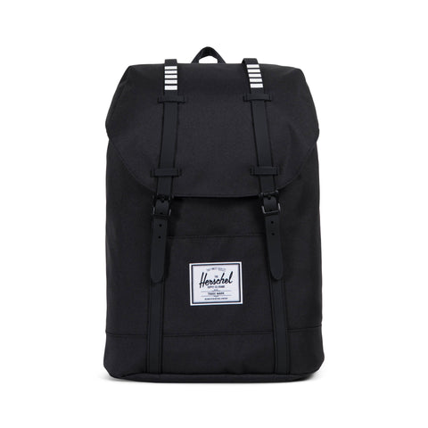 Herschel Supply Co. - Retreat Backpack, Black/Black/White Inset