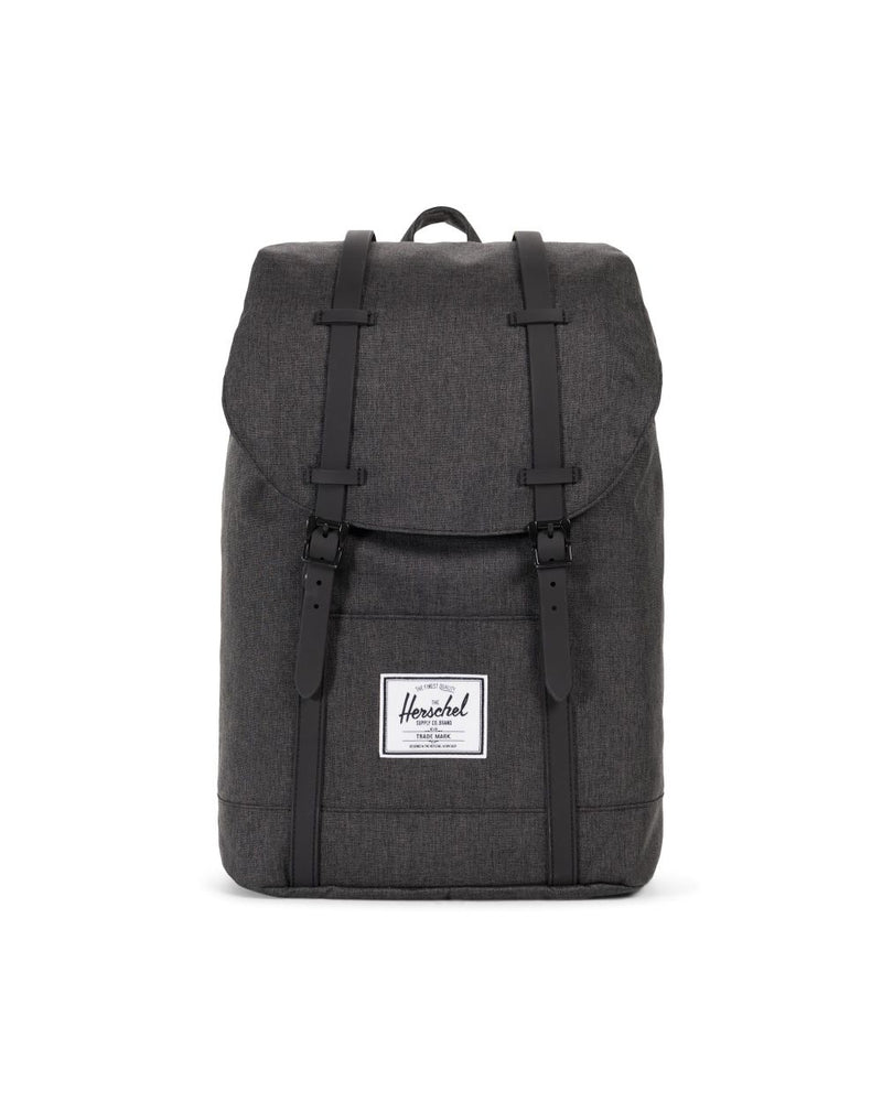 Herschel Supply Co. - Retreat Backpack, Black Crosshatch/Black Rubber
