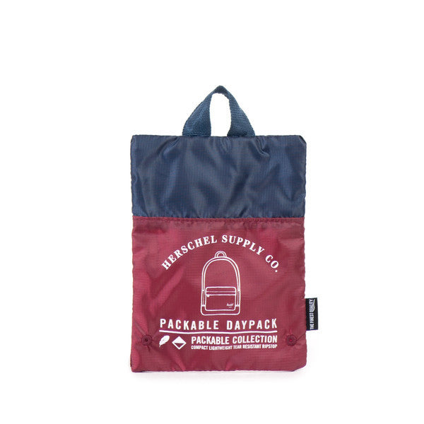 Herschel Supply Co. - Packable Daypack, Wine/Navy - The Giant Peach - 4