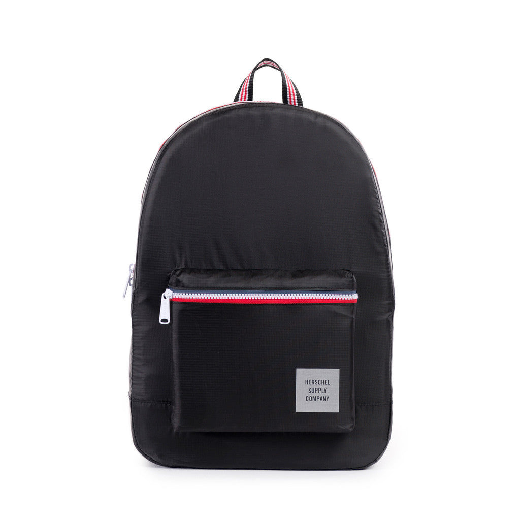Herschel Supply Co. - Packable Daypack, Black/Multi Zip - The Giant Peach