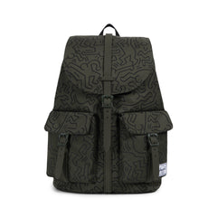 Herschel Supply Co. x Keith Haring - Dawson Backpack, Forest Night - The Giant Peach