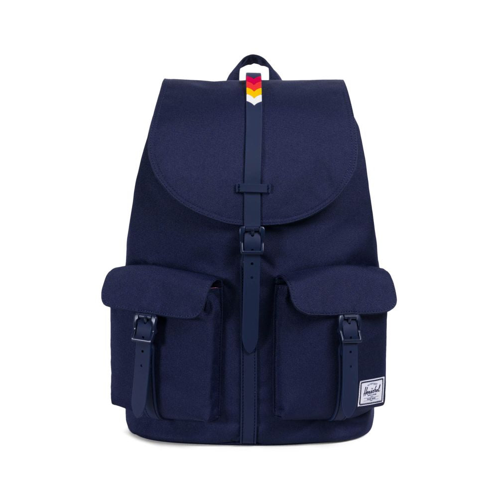 Herschel Supply Co. - Dawson Backpack, Peacoat/Rainbow Chevron - The Giant Peach