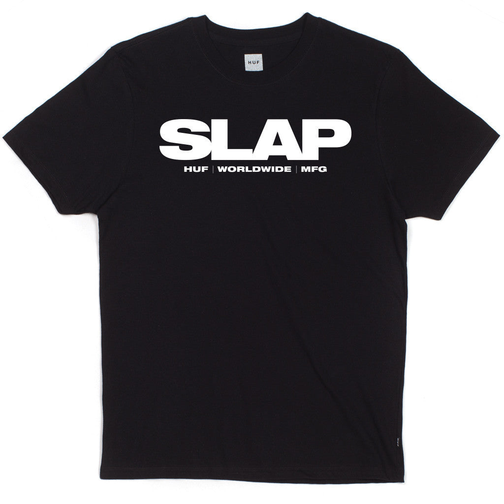 HUF - HUF x Slap Men's Tee, Black - The Giant Peach - 1