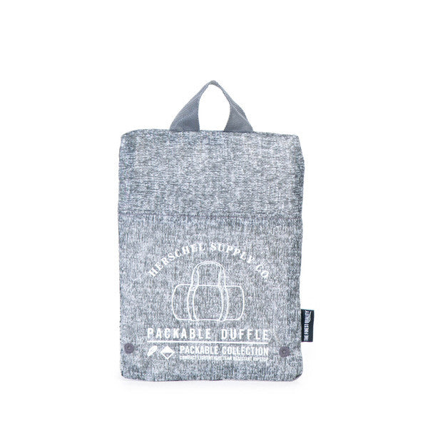 Herschel Supply Co. - Packable Duffle, Raven Crosshatch - The Giant Peach