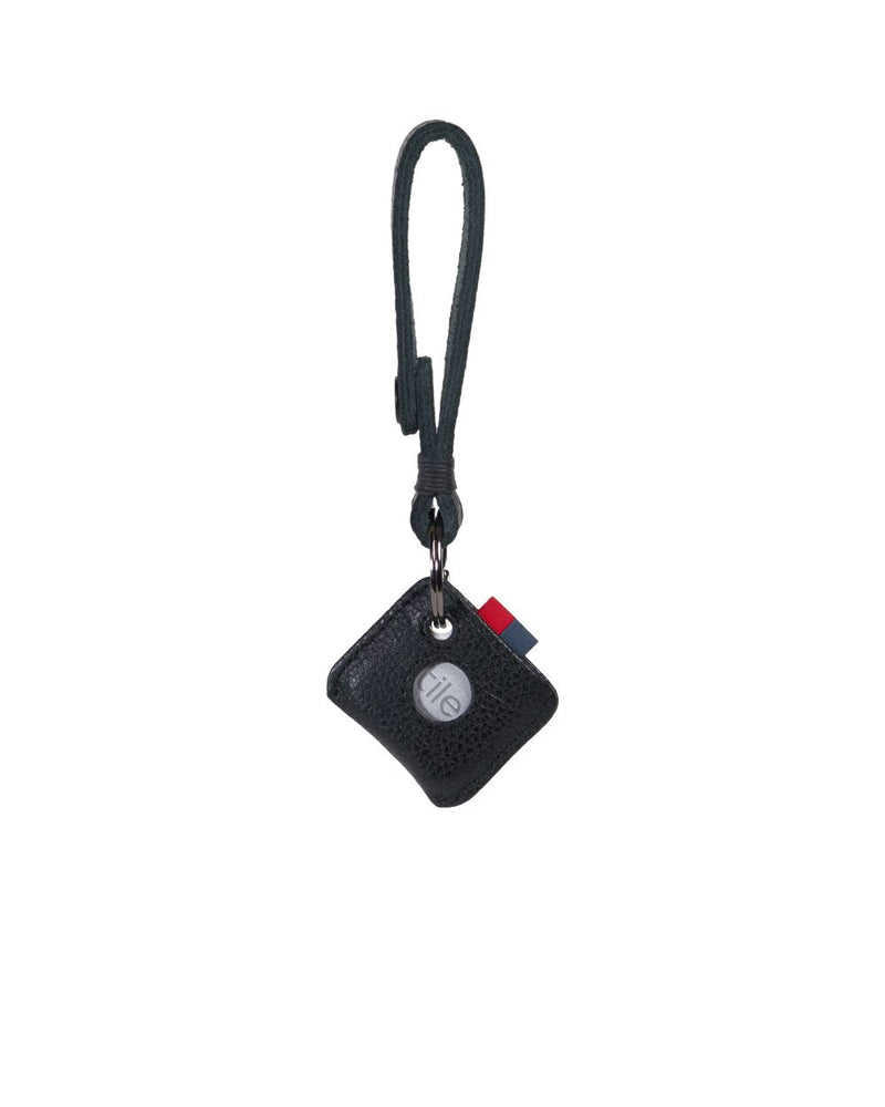 Herschel Supply Co - Key Chain + Tile Mate, Black Leather