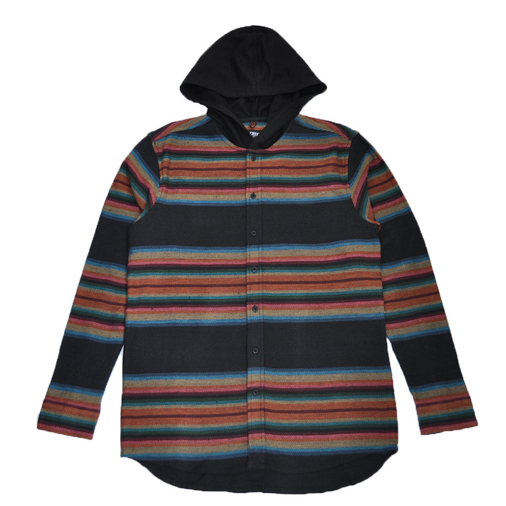10Deep - CB's Hooded Men's Flannel, Black - The Giant Peach - 1