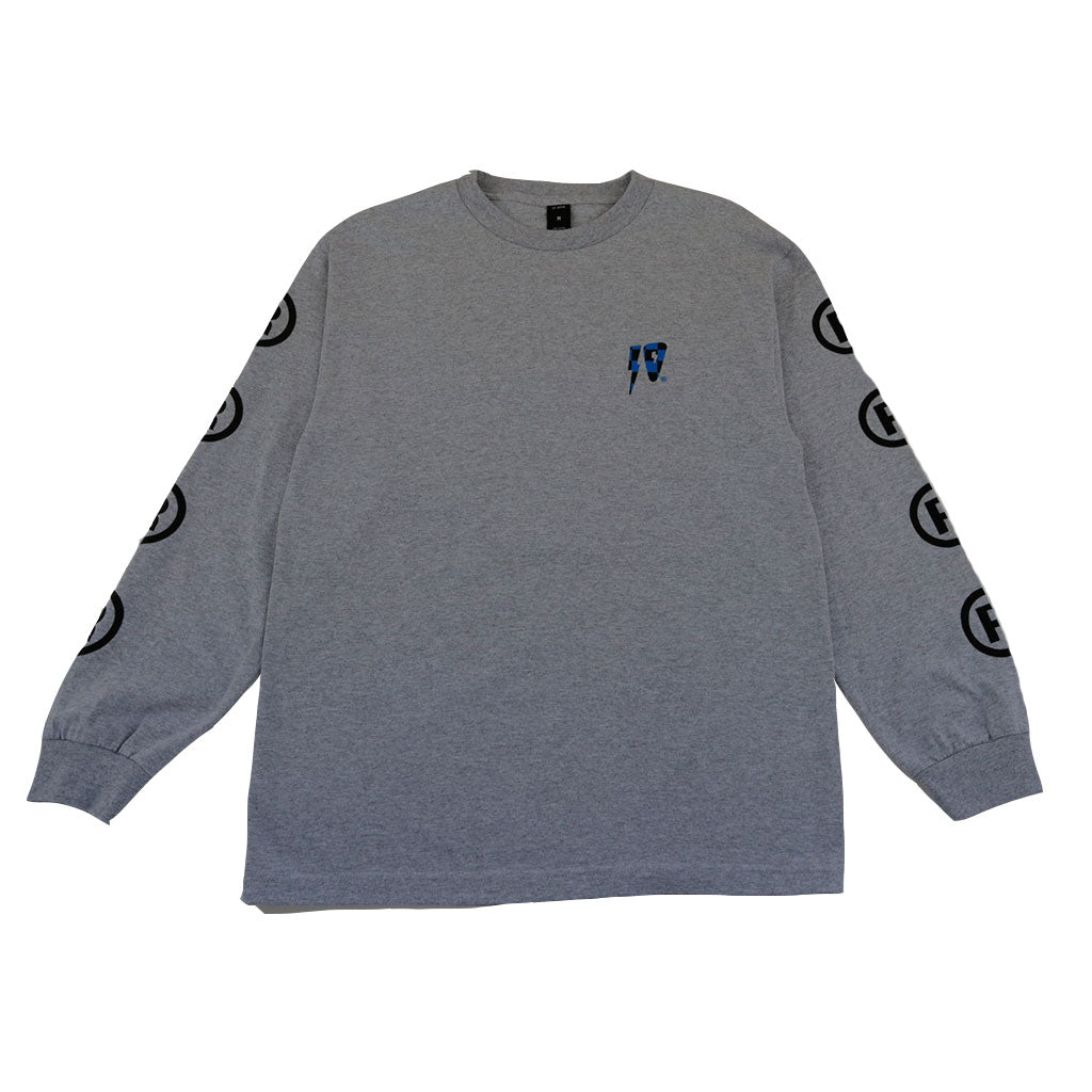 10Deep - 10 Strikes Men's L/S Tee, Heather Grey