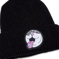RIPNDIP - Pill Men's Rib Beanie, Black - The Giant Peach