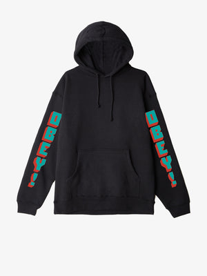 OBEY - New World 2 Pullover Men's Hoodie, Black - The Giant Peach