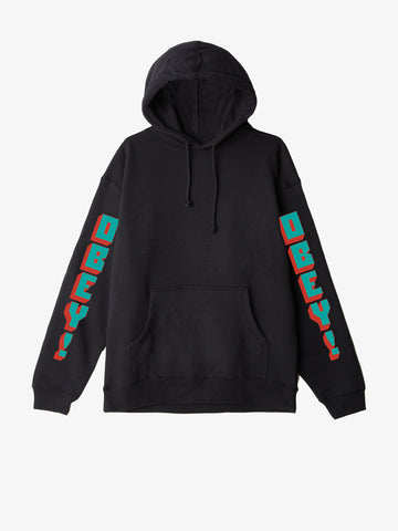 OBEY - New World 2 Pullover Men's Hoodie, Black