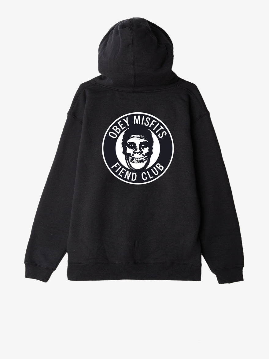 OBEY x Misfits Fiend Club Men's Hoodie, Black - The Giant Peach