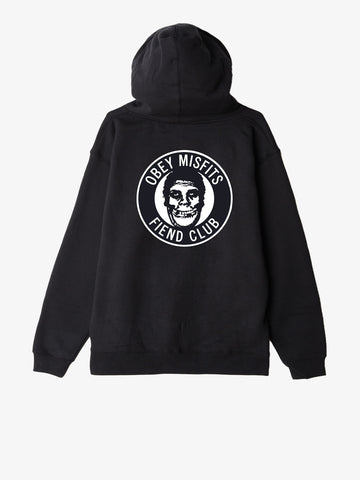 OBEY x Misfits Fiend Club Men's Hoodie, Black