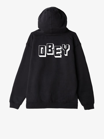 OBEY - Jumble Obey Men's Zip Hood, Black
