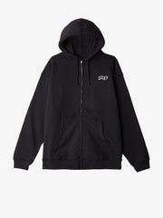 OBEY - Jumble Obey Men's Zip Hood, Black - The Giant Peach