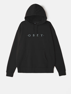 OBEY - Distant Pullover Men's Hoodie, Black - The Giant Peach