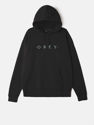 OBEY - Distant Pullover Men's Hoodie, Black