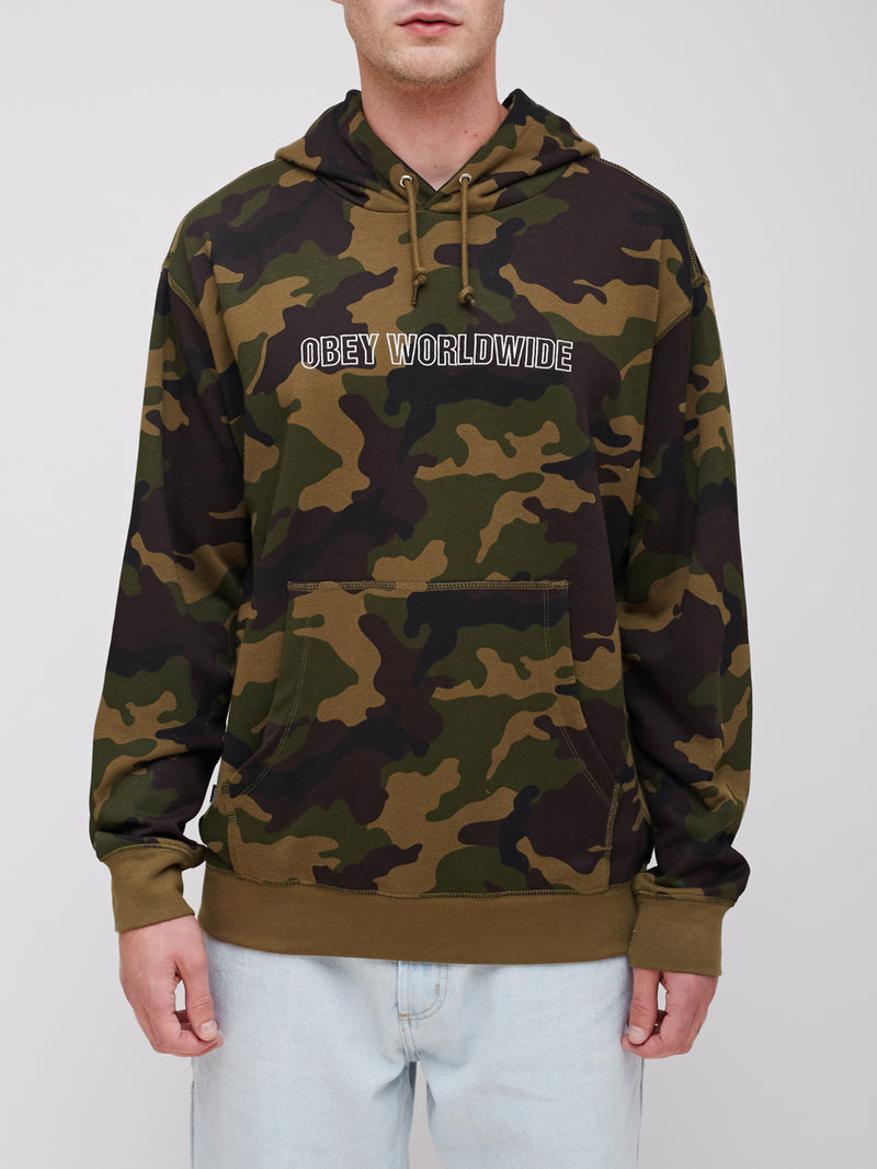 OBEY - Automatic  Pullover Men's Hoodie, Camo - The Giant Peach