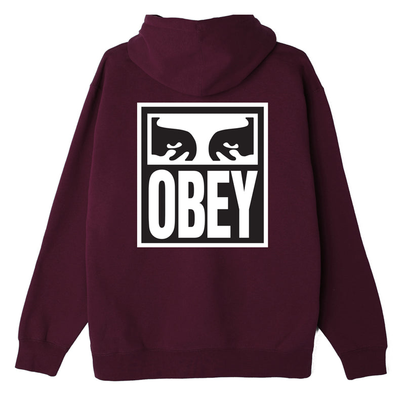 OBEY - Eyes Icon II Box Fit Men's Pullover Hood, Blackberry Wine