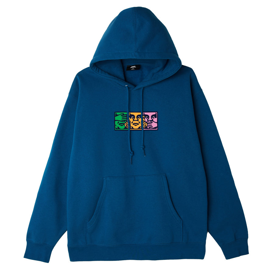 OBEY - No Evil Men's Pullover Hood, Blue Sapphire