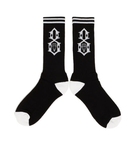 REBEL8 - Logo Socks, Black