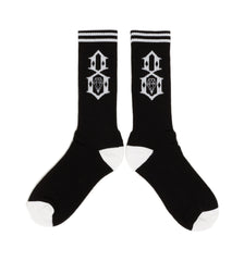 REBEL8 - Logo Socks, Black - The Giant Peach