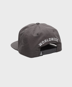 REBEL8 - Worldwide Domination Snapback Hat, Athletic Heather - The Giant Peach