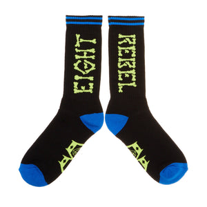 REBEL8 - Bones Socks, Black - The Giant Peach