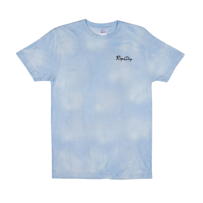 RIPNDIP - Couch Potato Men's Tee, Blue/White Mineral Wash - The Giant Peach