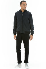 OBEY - Eightball Men's Bomber Jacket, Black - The Giant Peach